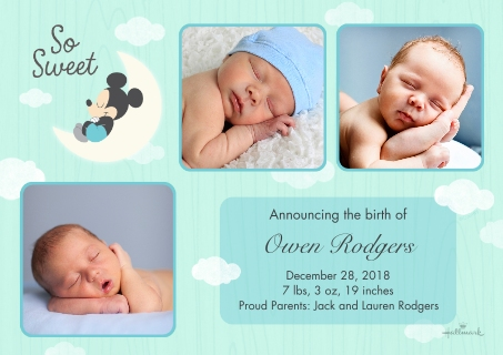 Baby Boy Announcements Baby and Kids – Walgreens Birth Announcements