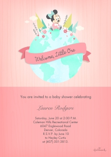 Baby shower invitations baby and kids walgreens photo baby minnie shower invitation stopboris Images