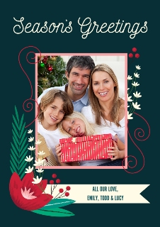 Season's Greetings Personalized Holiday Cards