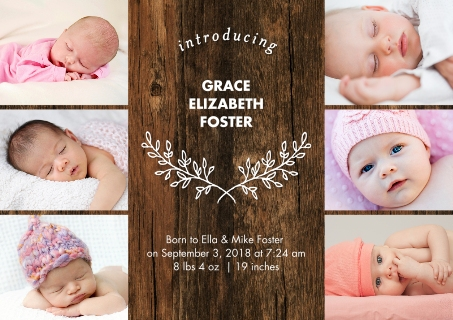 Baby Girl Announcements Baby and Kids – Walgreens Birth Announcements