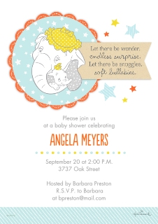 Baby shower invitations baby and kids walgreens photo sweet mom and baby dumbo stopboris Image collections