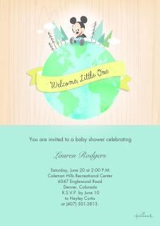 Baby shower invitations baby and kids walgreens photo baby mickey shower invitation filmwisefo Gallery