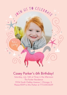 Invitations and announcements walgreens photo birthday unicorn invitation filmwisefo Images