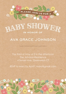 Baby shower invitations baby and kids walgreens photo baby shower floral banner filmwisefo Images