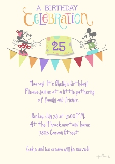 Birthday party invitations custom photo cards walgreens photo mickey minnie birthday stopboris Gallery