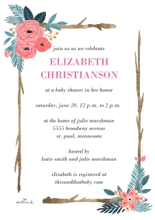 Baby shower invitations baby and kids walgreens photo baby shower invitations multi watercolor floral frame filmwisefo