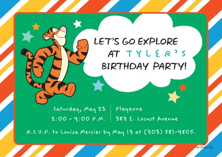 Kids birthday party invites birthday cards walgreens photo kids birthday party invites multi lets explore tigger filmwisefo