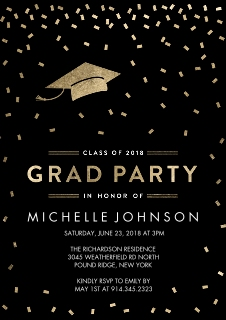 Graduation invitations graduation cards walgreens photo grad party tossed confetti by tumbalina filmwisefo