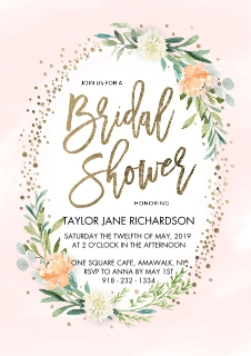 Wedding shower invites invitations and announcements walgreens photo bridal shower spring floral frame by tumbalina filmwisefo