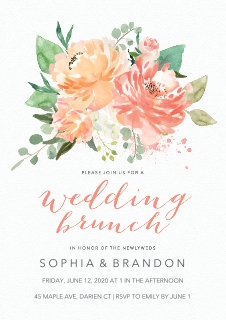 Wedding shower invites invitations and announcements walgreens photo wedding shower invitations multi multi wedding brunch poppy floral filmwisefo