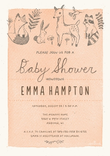 Baby shower invitations baby and kids walgreens photo woodland creature baby shower stopboris Images