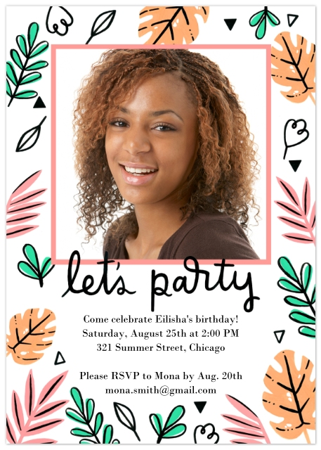 party invitations invitations and announcements walgreens photo