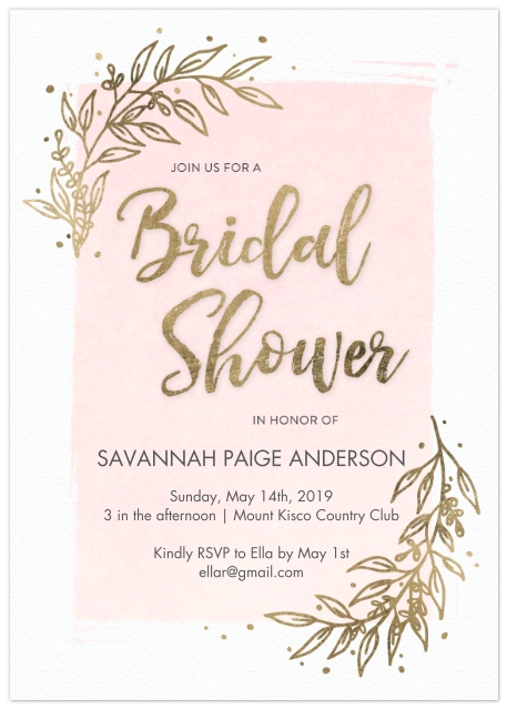 wedding shower invitations set of 20 flat photo cards