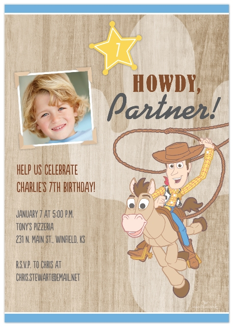 Kids Birthday Party Invites Set Of 20 Flat Photo Cards