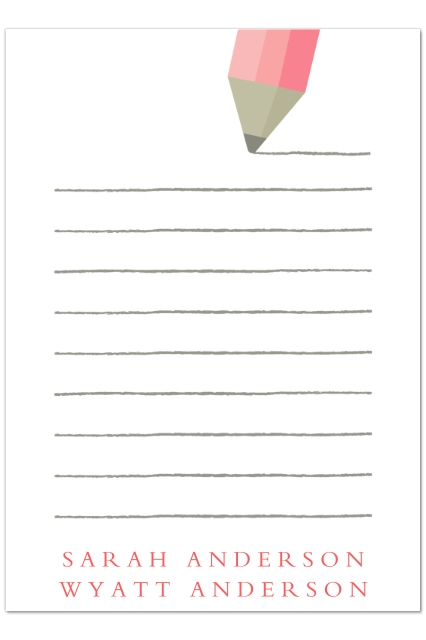 Set Of 20 5x7 Personal Stationery