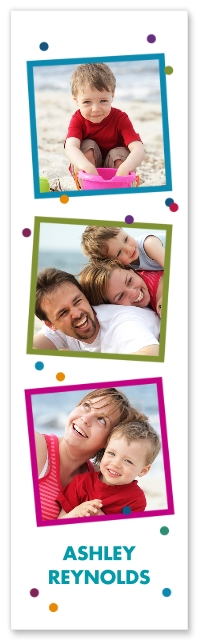 Done In Love Set of 4, 2x7 Bookmarks portrait image Front View