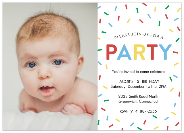 Birthday Party Invites Set Of 20 Flat Photo Cards