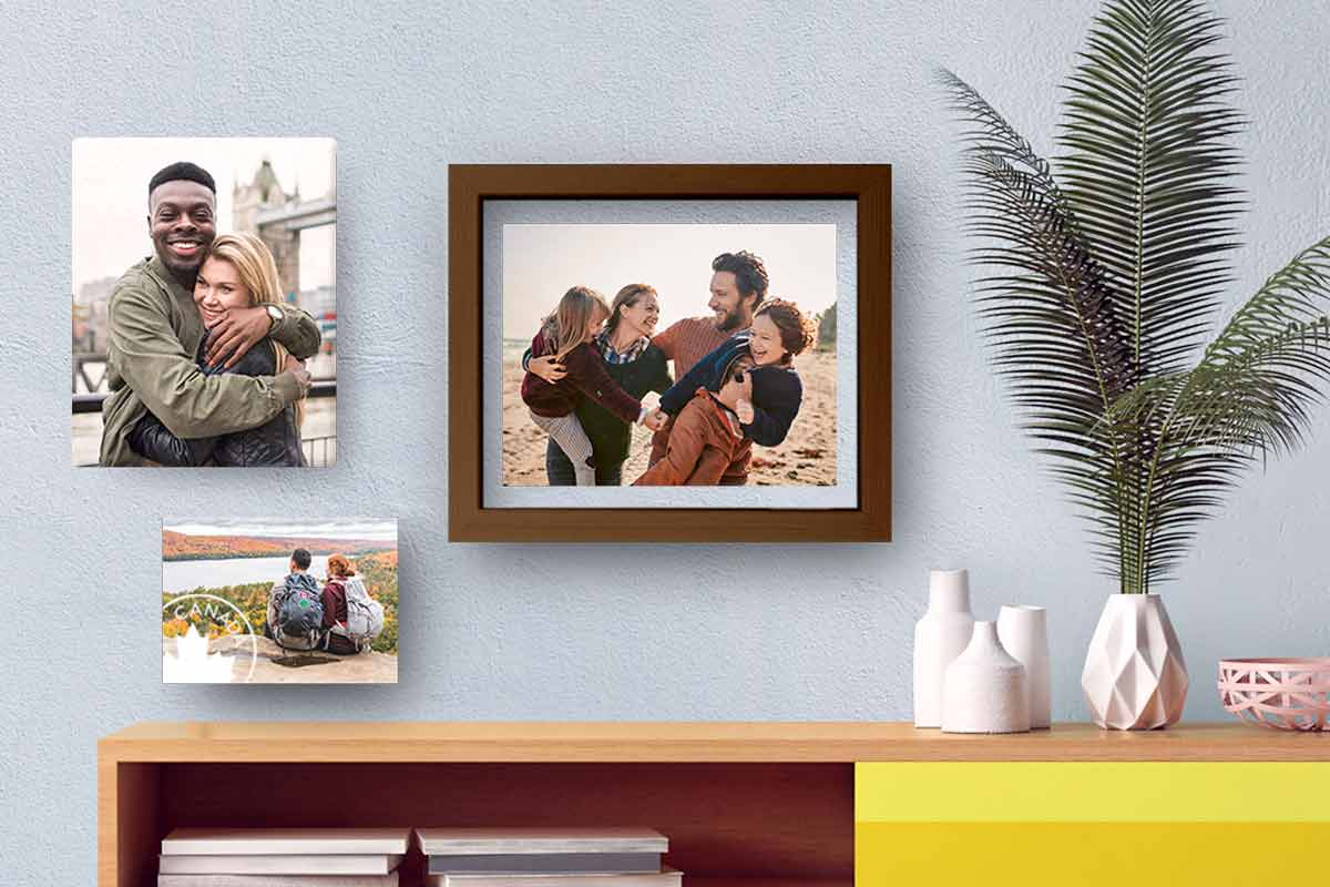Create your happy place Make your home your own by showcasing fave photos.