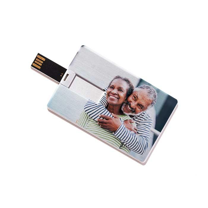 Custom USB Flash Drive - Credit Card Style (Metal)