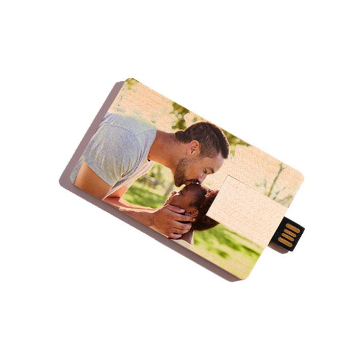 Custom USB Flash Drive - Credit Card Style (Wood)