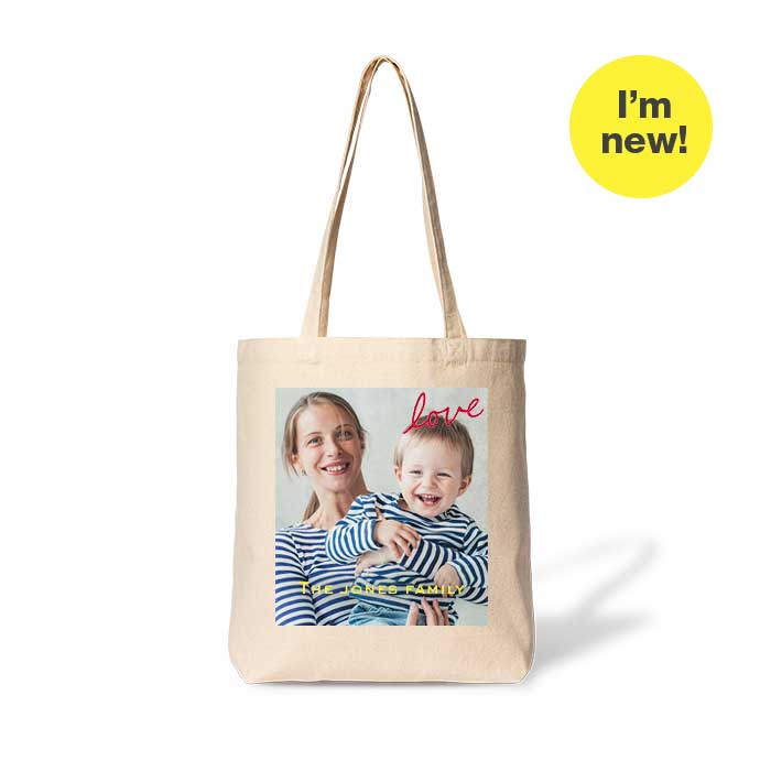 I'm new! Gusseted Cotton Tote Bag