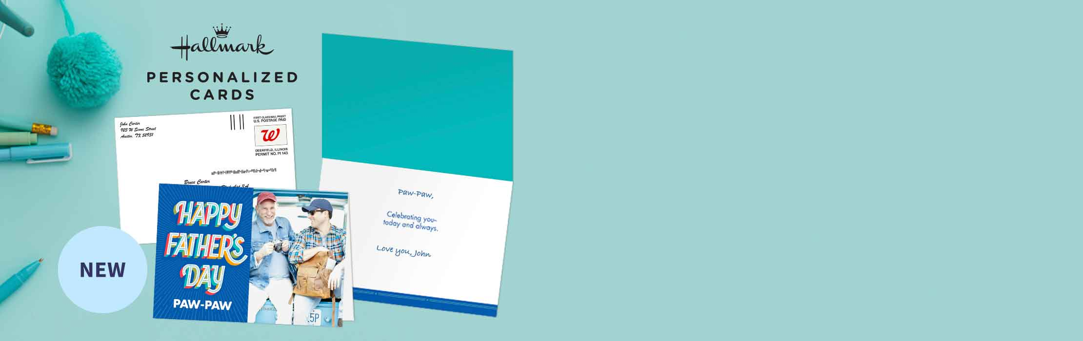 Make a Hallmark card that makes Dad smile
