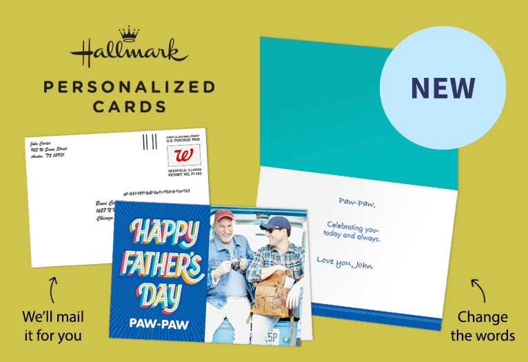Make Dad a one-of-a-kind Hallmark card