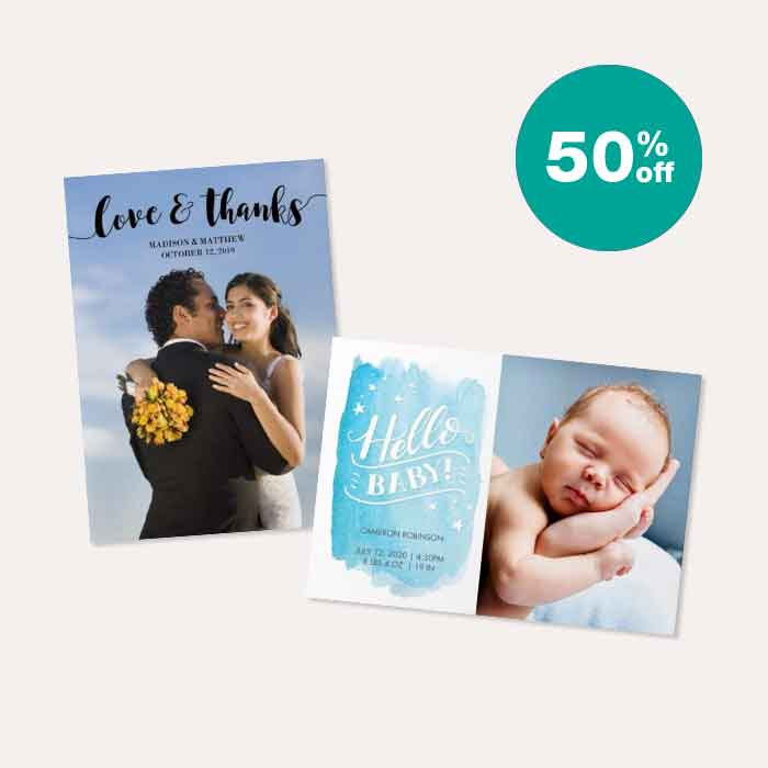 50% off Cards & Stationery