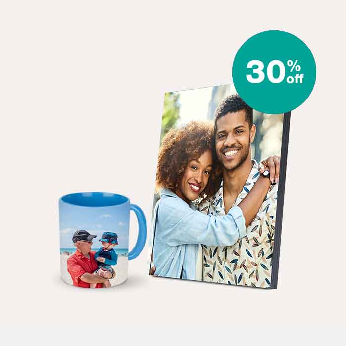 30% off Photo Gifts