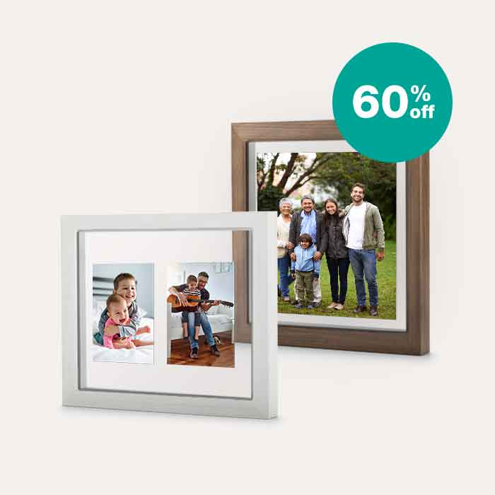 60% off Floating Frames