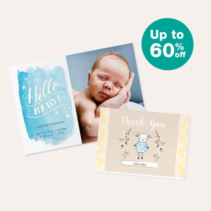 Up to 60% off Cards & Stationery