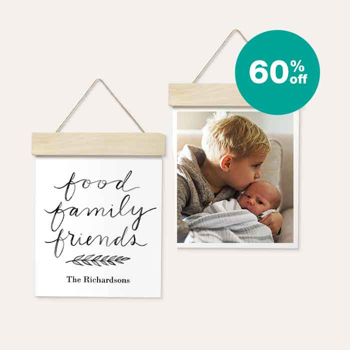 60% off Wood Hanger Board Prints