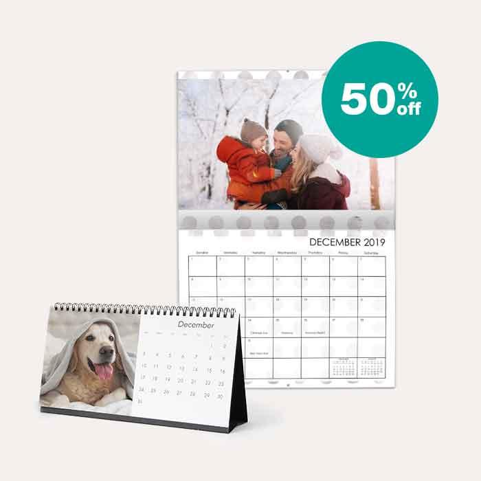 50% off Calendars