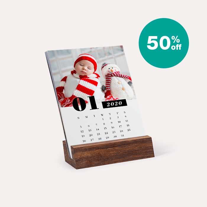 50% off Wood Easel Calendar