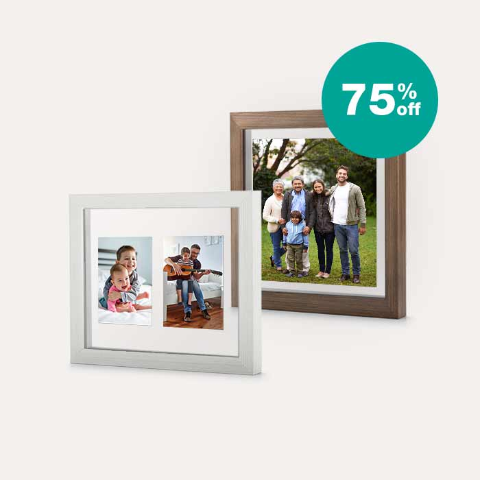 75% off Floating Frames