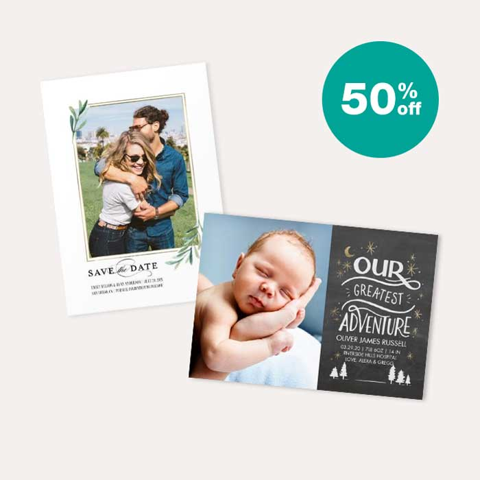 50% off Cards & Premium Stationery