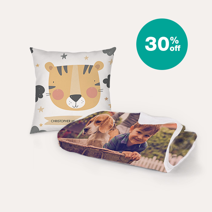 30% off Pillows & Blankets