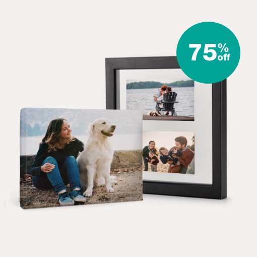 75% off Canvas & Floating Frames