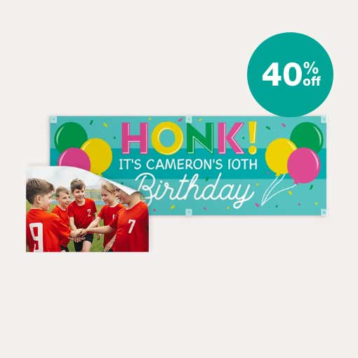 40% off Posters & Banners