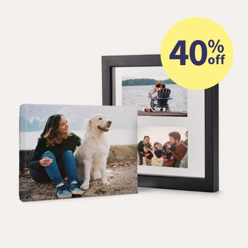 40% off Canvas Prints & Custom Floating Frames