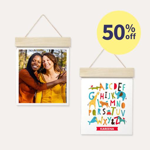 50% off Wood Hanger Board Prints