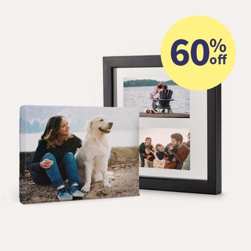 60% off Same Day Canvas Prints & Floating Frames