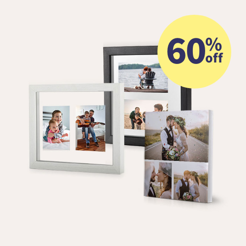 60% off Canvas & Floating Frames