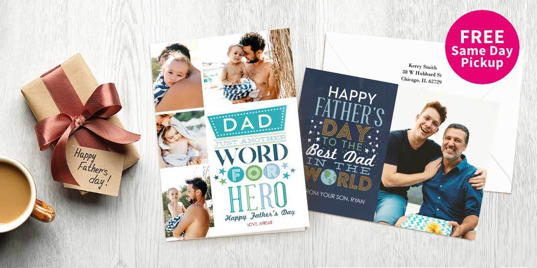 Take Dad down memory lane with a card that could only come from you.