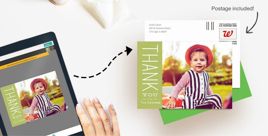 Easily send a gorgeous photo card—without leaving the house