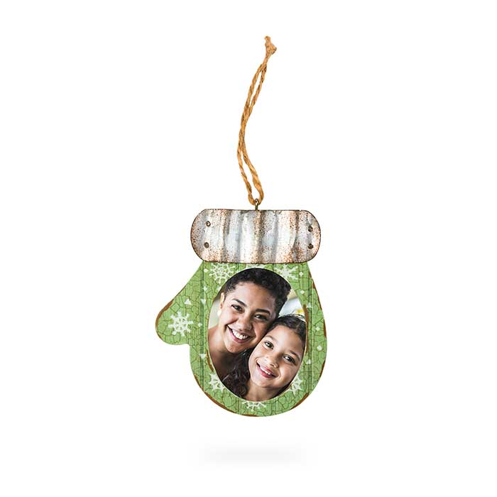 Rustic Mitten Ornament