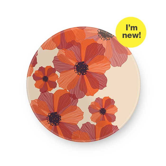 i'm New. Round Glass Plate