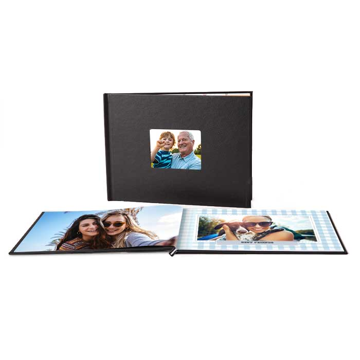 8.5x11 Layflat Window Cover Photo Book