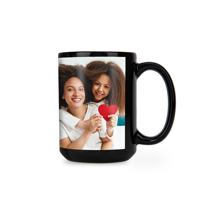 15oz Black Ceramic Mug
