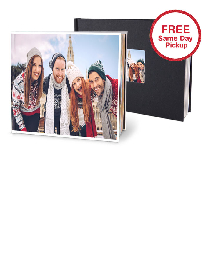 Available for same-day pick up at Walgreens and Walmart. Customize with designs and embellishments, and personalize dates with photos and text. Printed on quality paper stock and spiral bound.